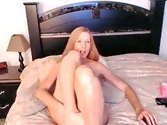 Redhead milf cumshow