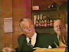 Older Men In Suits Get Teased By Mature Bar Maid Wear Tweed