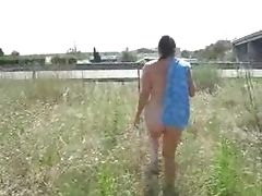 My mature wife showing near motorway Home video