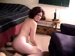 Naked Amateur Crawling On All Fours