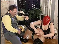 Excess in Gold pt3 Latex fisting and fucking