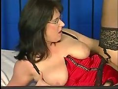 Busty German Mature In Lingerie & Glasses Fucked