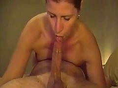 A Milf Deepthroats Huge Long Dick