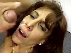 Mature slut facefucked