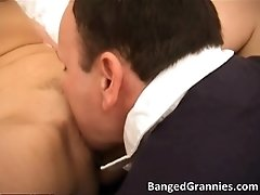 Nasty Brunette MILF Blows Stiff Cock And Gets Fucked Ha