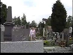 Yvonne in graveyard
