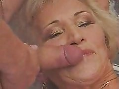 Granny gangbang and big facial and cream pie