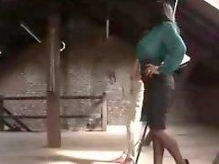 Sensual Big Tits Femdom Handjob Her Bondage slave