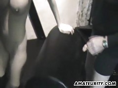 Busty Amateur Mom Home Threesome With Cum On Tits