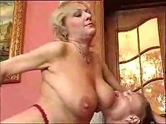 Horny Mature Woman and young