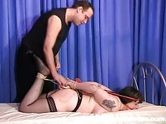 Mature Jays busty bdsm and hogtied bondage of tormented amateur slaveslut