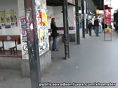 Public sex with a naughty hottie