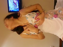 Chinese MILF Dance And Blowjob