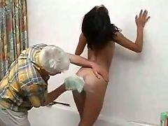 Asian Teen With Old Man