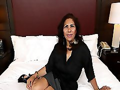 Spanish MILF taking cock