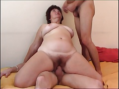 Plump Granny Getting Double Teamed