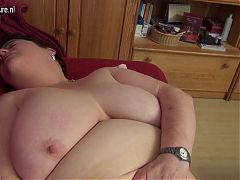 Big breasted German mutter and her fat vagina