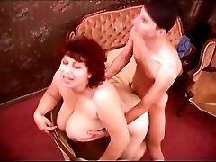 Mature chubby housewife fucking with young thief