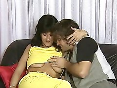 Foursome with two hot MILFS gets hot and heavy