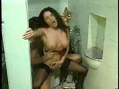 Bigboobs Horny Secretary Babe Fucking In Bathroom