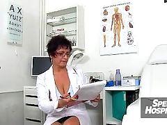 Big natural boobs lady in uniform Danielle a skinny boy handjob