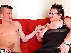 Young Gardener Sam Bourne With Big Dick Is Also Working On BBW Granny