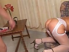 Old Blonde Granny Cocksucker and Fucker