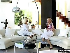 Jenny M in the Private lesbian Casting s Couch with Keana Moire
