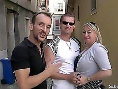 Karine a french mature gangbanged