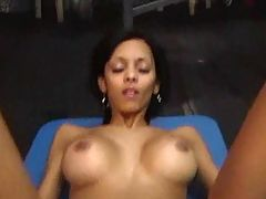 Amateur Black Milf Sucks And Fucks Big White Cock