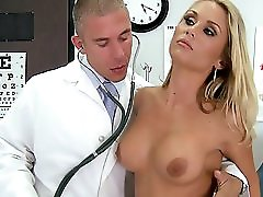 Euro Big Tit Blonde Tight Young Milf Fucks Dick Doctor In Office