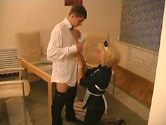 Mature blonde maid