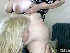 Two fat horny grannies love having lesbian sex by oldna