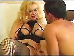 Blonde Milf in Fishnets Fucks