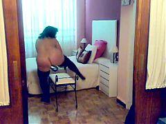 Sexy Amateur BBW Strip In Black Lingerie