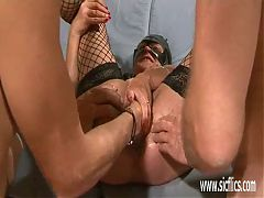 Mature Granny Gang Fisted And Fucked With Huge Toys