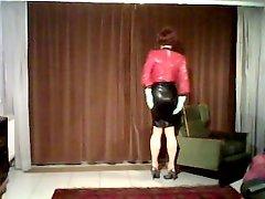 Latex rubber gummi nutte slut high heels anal shemale milf
