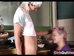 Girls Out West Wild Lesbian Strap On Fuck And Cunnilingus