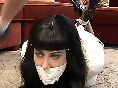Private detective tied and gagged by a spy