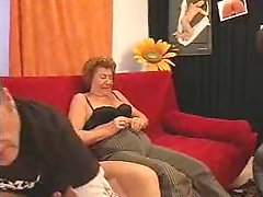 Horny Gilf Double Teamed & Creamed