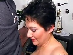Nasty Fat Woman Gets On Her Knees And Blows This Guys B