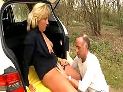 Mature German Taxi Driver Likes Takes A Dick