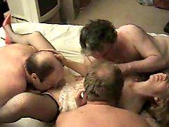 Sexy british milf enjoying a gangbang C3P0