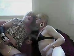 Mature Crossdressers In Threesome Copulation