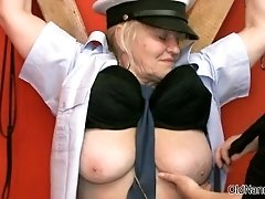 Dirty Old Woman Gets Horny Getting Her Tits Rubbed By O