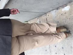Tall Black Big Booty Black Milf In Tan Pants