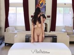 PureMature Dick massage for Dianna Princes needy pussy