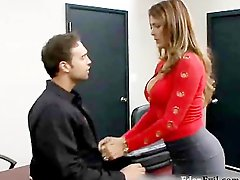 Hot milf fuck hard at office