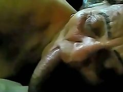Very Old Brazilian Whore gives a Blowjob