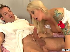 Stunning Mature Nurse Rides Her Patient's Big Hard Cock